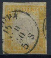 Sardinien 1855 Sass. 17Da Gestempelt 40% Signiert Cardillo - Sardegna