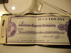 SUISSE   American Express Company  100 Francs - Chèques & Chèques De Voyage