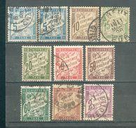 FRANCE ; Taxes ; 1893-1935 ; Y&T N° ; Lot : 014  ; Oblitéré - 1859-1955 Oblitérés