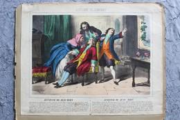 4 Lithographies WENTZEL WISSEMBOURG HISTOIRE DE JEAN BART 33cm / 26cm + 1 Lithographie Histoire De Jeanne D Arc  RARETE - Lithographies
