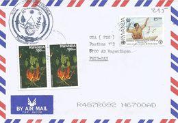 Rwanda 2008 Butare Climber Glory Lily Gloriosa Superba Fishing FAO Cover - 1990-99: Afgestempeld