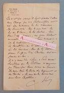 L.A.S CH. KULA Rue Viete à Paris - Signataire à Identifier - CITROEN - Intéressante Lettre Autographe - Autographes