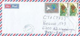 Rwanda 2004 Gisenyi Dove Pigeon Peace Year Snail Cover - 1990-99: Afgestempeld