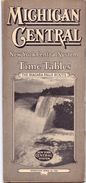 Toerisme Tourisme Michigan Central - Time Tables April 1938 - Trains New York Central System - Dienstregeling Treinen - World