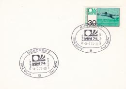 Germany Card 1974 World Cup FIFA Football - München Presse Zentrum (DD7-3) - Coppa Del Mondo