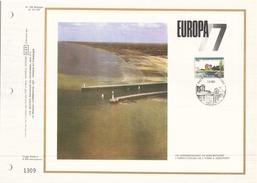 Belgique Document Officiel Du 7 Mai 1977 à Nieuwpoort Europa - Documents De La Poste