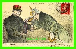 MILITARIA - LE PETIT CADEAU - J'OFFRE... AVEC MES MEILLEURS SOUHAIT POUR 1915 - CIRCULÉE EN 1915 - H. WAGRAM, ÉDITEUR - - Humoristiques