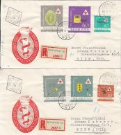 65444- HUNGARIAN HEALTH CARE SYSTEM, REGISTERED COVER FDC, 2X, 1961, HUNGARY - Salute