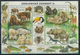 Tschechien Block 'Zoos, Löwe Nashorn Eisbär Wisent ...' / Czech Rep. M/s 'Zoos, Lion Rhino Bear Bison ...' **/MNH 2017 - Postzegels