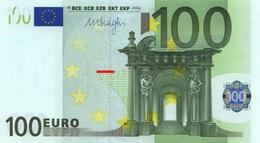 EURO SPAIN 100 V M004 DRAGHI UNC - 100 Euro