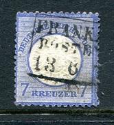 Deutsches Reich 1872, Michel 26 KW €90, Kastenstempel,Dünnstelle - Gebruikt