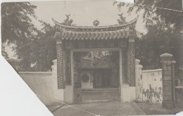Cambodge (?) - Thailand (?) Photographie Fin XIXème - Portique Entrée Villa - Cambodge