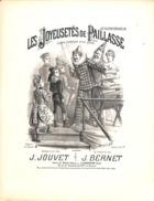 Les Joyeusetés De Paillasse, Scène Comique. Partition Ancienne, Grand Format, Couverture Illustrée Donjean. - Partituren