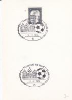 Germany Card 1974 World Cup FIFA Football - Frankfurt Am Main (DD7-4) - Coppa Del Mondo