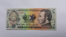 HONDURAS 5 LEMPIRA 1993 - Honduras