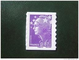 France - Timbres Autocollants 2010 / Marianne De Beaujard Violet-rouge (0,87 €) Autoadhésif / Timbre Autoadhésif N° 487 - France