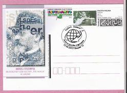 Poland 2017,entire,postcard 1,SLUPSK , Esperanto, L.Zamenhof, Languages, LIMITED EDITION - Esperanto