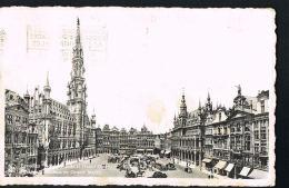 BRUXELLES  - Hotel De Ville Et Grand'Place  - Voyagée   Scans Recto Verso-Paypal Free - Squares