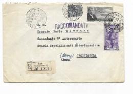 Francobolloi  Lire 5 + Lire 25 G.pascoli + Lire 50 Le Greggi Sardegna   Su Busta - 6. 1946-.. Repubblica