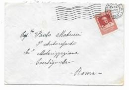 Francobollo Lire 25 Cicerone  Su Busta 1957 - 1946-.. République