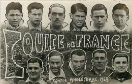 CARTE PHOTO EQUIPE DE FRANCE CONTRE ANGLETERRE  1929 PHOTO A.BIENVENU - Soccer