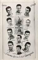 FOOTBALL EQUIPE DE REIMS CONTRE LE RACING 14 MAI 1950 OFFERT PAR LES STYLO EVERGOOD - Soccer