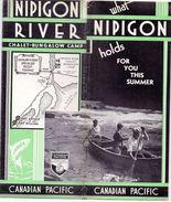 Brochure Dépliant  Toerisme Tourisme - Canada  Canadian Paific Railway - Nipigon River Chalet Bungalow Camp Ontario 1934 - Tourism Brochures
