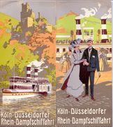 Koln Dusseldorfer Rhein Dampfschiffahrt - Sommer Fahrplan 1911 - Time Table - Stoomschip Op Rijn - - Europe