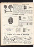 Publicité Dépliant Touring Club De France Paris / Cartes,guides,sac,bouchon Radiateur,plaque Auto Et Vélo,fanion,etc.... - Werbung