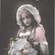 CPA...ENFANT....ARTISTIQUE...  BONNE ANNEE ..HIVER...TBE ..SCAN - Portraits