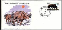FDC Congo 1978 Rhinocéros. - Rhinozerosse