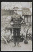 GREAT BRITAIN World War I Soldier In Uniform Real Photo Postcard Unused C1915 STK#94250 - Uniformes