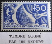 LOT BP/196B - 1936 - EXPO PARIS - N°327 NEUF** Timbre Signé Par Un Expert - Cote : 80,00 € - France