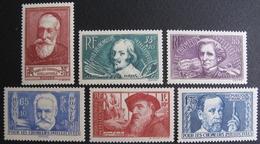 LOT BP/197A - 1938 - AU PROFIT DES CHÔMEURS INTELLECTUELS - N°380 à 385 NEUFS** - Cote : 90,00 € - Unused Stamps
