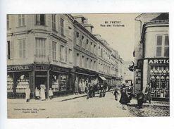 CPA Animée Yvetot Rue Des Victoires N° 95 Maison Delamare André Petit Épicerie Centrale - Valmont