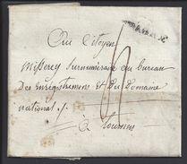 """FR - Lettre De Chagey En Port Dû, Taxe Manuscrite 4 Décimes, Pour Tournus, écrite En 1800 - Griffe """"70 CHAGEY"""" B/TB  - - Marcophilie (Lettres)"""