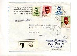 Lettre Recommandee Tanger Sur Roi - Marruecos (1956-...)