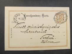 Korrespondenzkarte RETZ - Tachau Windischgrätz 1897 //  D*27305 - 1850-1918 Imperium