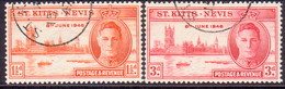 ST KITTS_NEVIS 1946 SG #78-79 Compl.set Used Victory - St.Christopher-Nevis-Anguilla (...-1980)