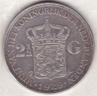 Pays-Bas,  2 ½ Gulden 1929, WILHELMINA I , En Argent  , KM# 165 - [ 3] 1815-… : Royaume Des Pays-Bas