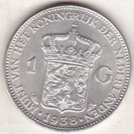 Pays-Bas,  1 Gulden 1938, WILHELMINA I , En Argent  , KM# 161.1 - 1 Gulden