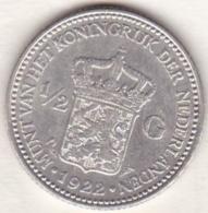 Pays-Bas,  ½ Gulden 1922, WILHELMINA I , En Argent  , KM# 160 - [ 3] 1815-… : Kingdom Of The Netherlands