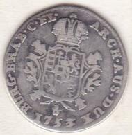 Pays-Bas Espagnols, 1/8 Ducaton 1753 (Main) Anvers, Maria Theresa, En Argent , KM# 5 - Belgique