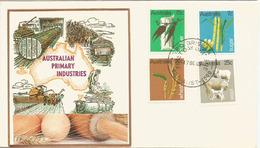 L'agriculture Australienne (laine,blé,canne à Sucre,etc) FDC Australie Année 1969 (côte Timbres 14,00 €) - Agriculture