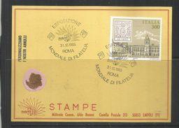 ITALIA REPUBBLICA ITALY REPUBLIC 1985 ESPOSIZIONE MONDIALE FILATELIA  ANTICHI STATI PARMA CARTOLINA CARD - 1981-90: Usati