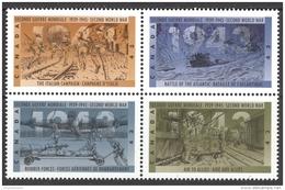 Canada Sc# 1506a MNH Block/4 1993 43c Second World War - 1943 - 1952-.... Reign Of Elizabeth II