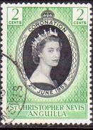 ST KITTS_NEVIS 1953 SG #106 2c Used Coronation - St.Christopher-Nevis-Anguilla (...-1980)