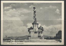 ITALIA REPUBBLICA ITALY REPUBLIC FIRENZE PIAZZALE MICHELANGELO DAVIDE CARTOLINA POST CARD AFFRANCATA - Firenze