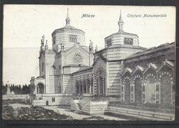 ITALIA REGNO ITALY KINGDOM MILANO CIMITERO MONUMENTALE CENT 5 (1901) CARTOLINA POST CARD VIAGGIATA - Milano