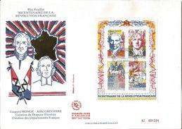 Bicentenaire De La Révolution  Création Du Drapeau Tricolore Et Des Départements Français Lot De 2 - 1990-1999